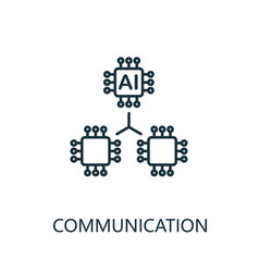 communication thin line icon creative simple vector image