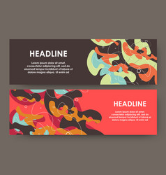 Creative layout with spotted background modern vector