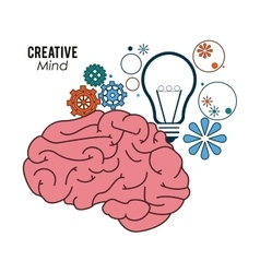 Creative mind and idea icon design vector image