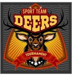 Deers - sport mascot team vector