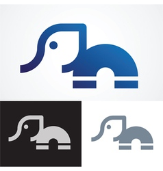 Elephant symbol design vector