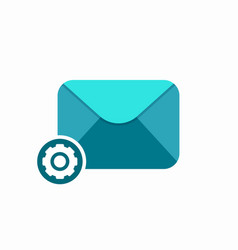 email envelope mail message settings icon vector image