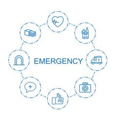 Emergency icons vector