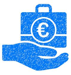 Euro banking service grunge icon vector