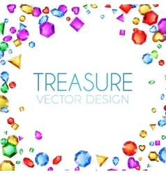 Falling Multicolor Gems vector