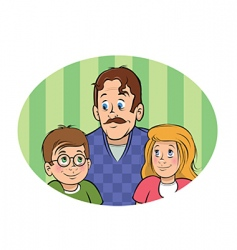 father kids vector image