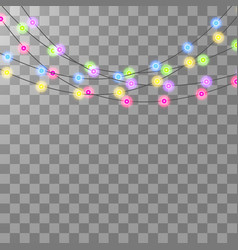 festive garlands set of decorations with vector image