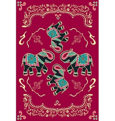 Festive typical indian elephant vector image