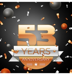 Fifty three years anniversary celebration vector