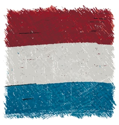 Flag of luxembourg handmade square shape vector