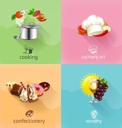 Food concept set vector