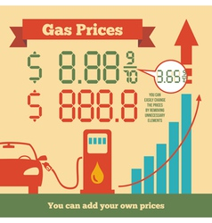 Gas prices infographics vector image