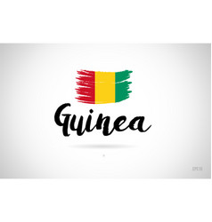 guinea country flag concept with grunge design vector image