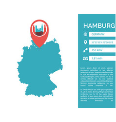 Hamburg map infographic vector