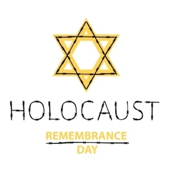 holocaust remembrance day january 27 vector image