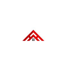 House roof construction company logo vector