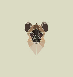 Hyena geometry head logo vector