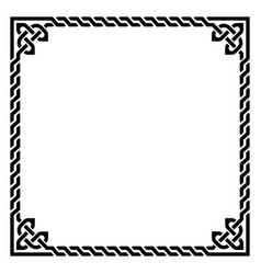 irish celtic square frame design - retro vector image