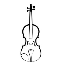 isolated violin outline musical instrument vector image