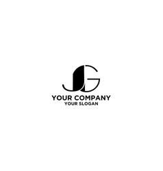 jg black logo design vector image