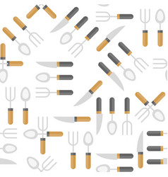 knife spoon and fork seamless pattern for vector image