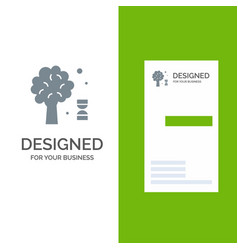 knowledge dna science tree grey logo design and vector image