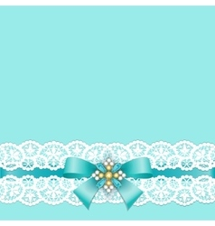 Lace border with bow vector