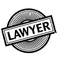 Lawyer rubber stamp vector image