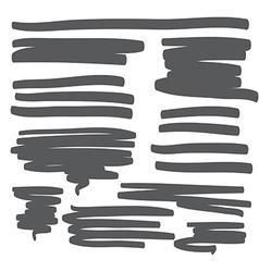 Lines hand drawn design element vector image
