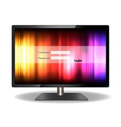 Login television design vector
