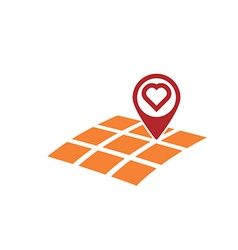 love gps location vector image