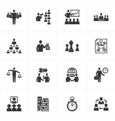 Management and business icons vector