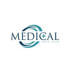 Medical logo design symbol icon vector