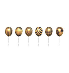 metallic gold balloon isolate on white flying vector image