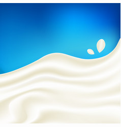 Milk flow with few drops realistic vector