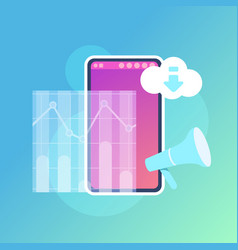 mobile graph synchronization cloud application vector image