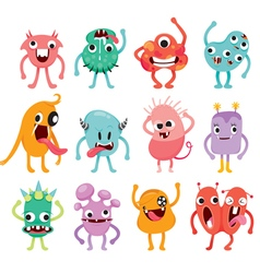 Monsters Cartoon Character With Actions Set vector image