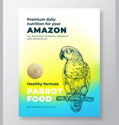 Pet bird food product label template abstract vector