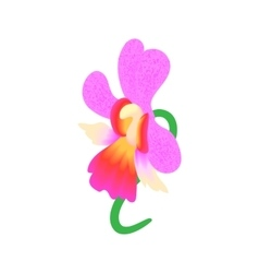 Pink orchid icon cartoon style vector image