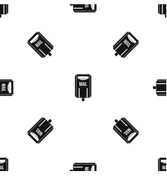 post box pattern seamless black vector image