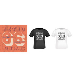 retro vintage 86 typography for t-shirt print vector image