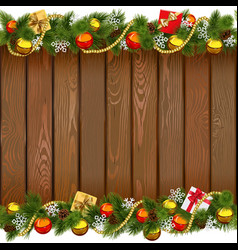 Seamless Christmas Wooden Board vector