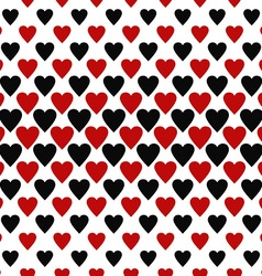 Seamless red and black heart pattern background vector