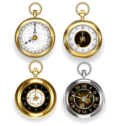 set round clock vector image