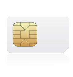 Sim card 01 vector