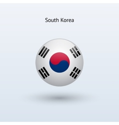 South Korea round flag vector
