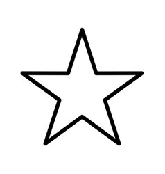 Star basic element icon vector