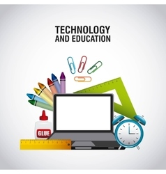 Technology and education supplies vector