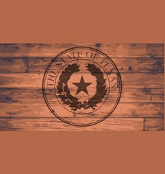 texas state seal brand vector image