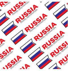 Travel to russia russian national flag seamless vector